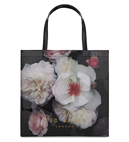 TED BAKER Taracon floral tote (Black