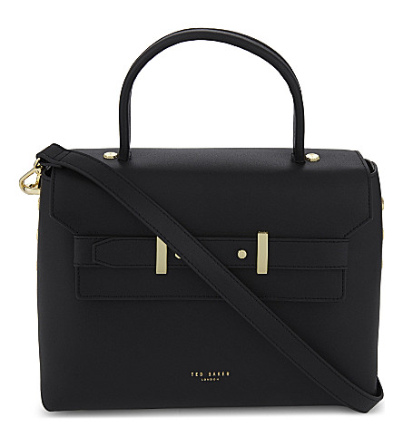 TED BAKER Taymar leather shoulder bag (Black