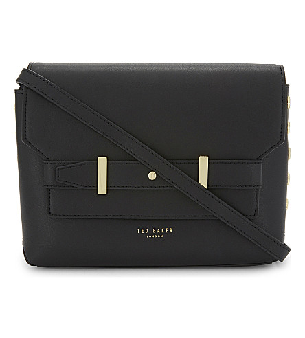 TED BAKER Taymar leather cross-body bag (Black