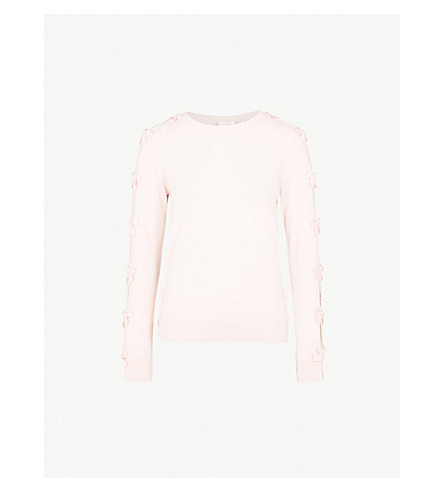 TED BAKER Bow-detailing knitted jumper (Baby+pink