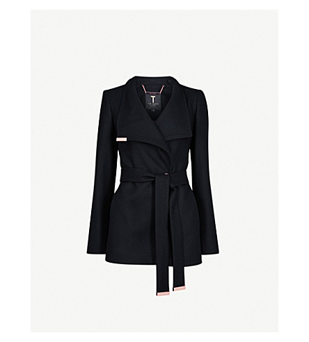 TED BAKER Keyla wool-blend coat (Black