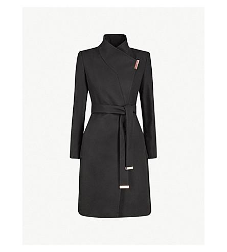 TED BAKER Kikiie wool-blend coat (Black