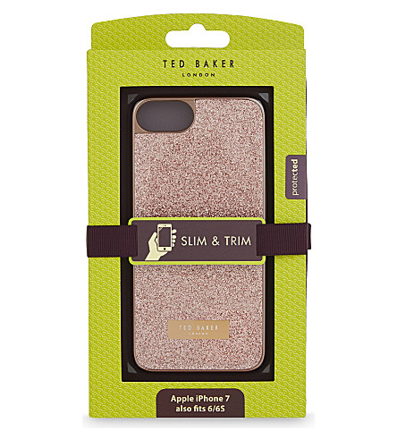 TED BAKER Sparkls glitter iPhone 7 case (Baby+pink