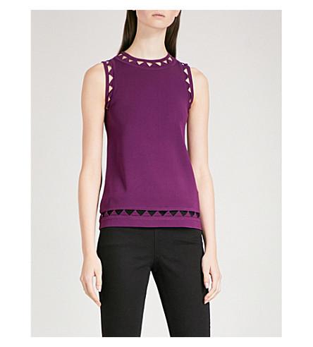 TED BAKER 犹镂空-细节针织上衣 (深 + 紫