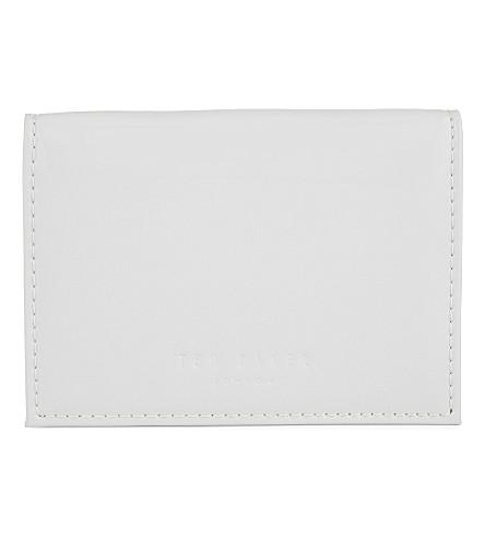 TED BAKER Lella patent leather card holder (Light+grey