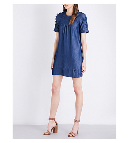TED BAKER Colour By Number chambray dress (Mid+wash