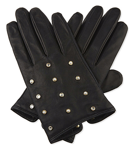 TED BAKER Zoie leather gloves (Black