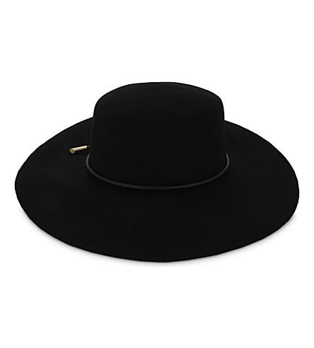 TED BAKER Alizza rope trim flat-brimmed hat (Black