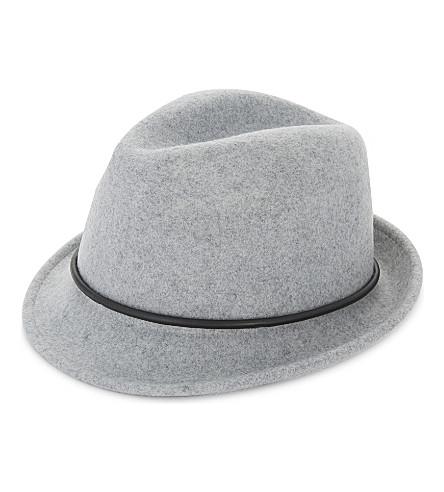 TED BAKER Pamela wool trilby hat (Light+grey