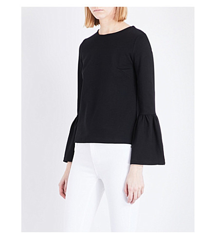 TED BAKER Lolar woven top (Black