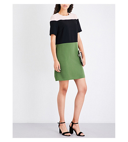 TED BAKER Colour block tunic dress (Green