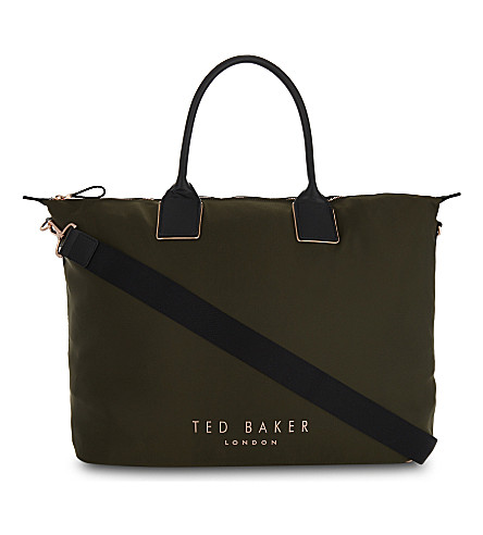 TED BAKER Alliii nylon carryall (Khaki