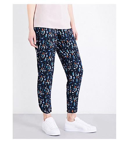 TED BAKER Colour by Numbers Esrig tapered woven jogging bottoms (Navy