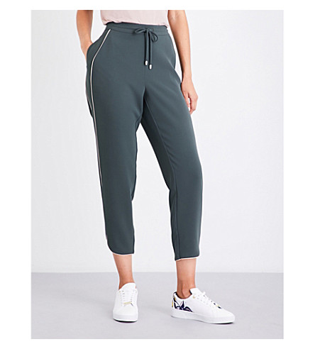TED BAKER Piped woven jogging bottoms (Green