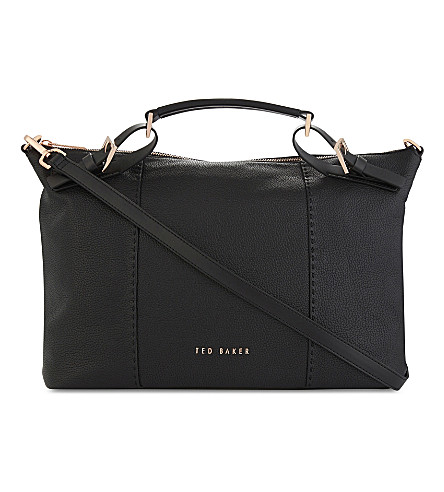 TED BAKER Salbee large leather tote bag (Black