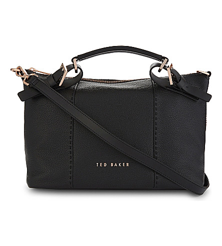 TED BAKER Salbett small leather tote bag (Black