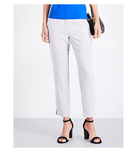 TED BAKER Rutti tapered crepe trousers (Light+grey