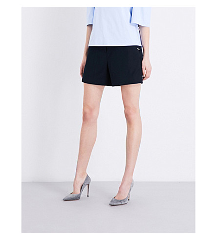 TED BAKER Colour By Numbers high-rise twill shorts (Navy
