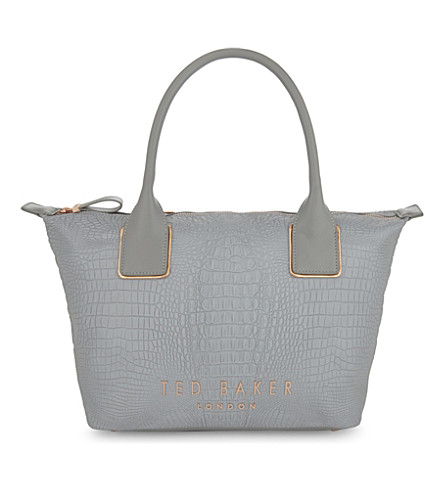 TED BAKER Remus tote bag (Light+grey