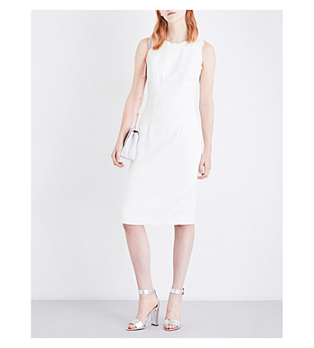 TED BAKER Glaciat crepe dress (Cream