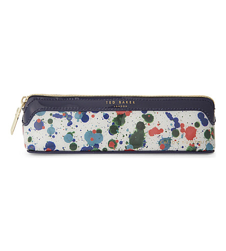 TED BAKER Colour By Numbers Poni pencil case (Ivory