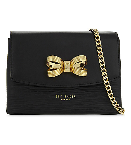 TED BAKER Leorr leather cross-body bag (Black