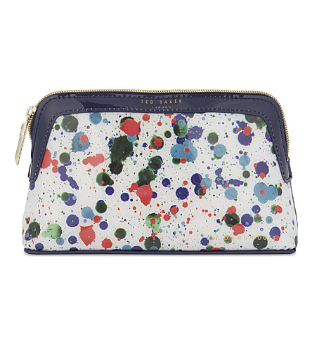 TED BAKER Colour By Numbers Olaar small wash bag (Ivory