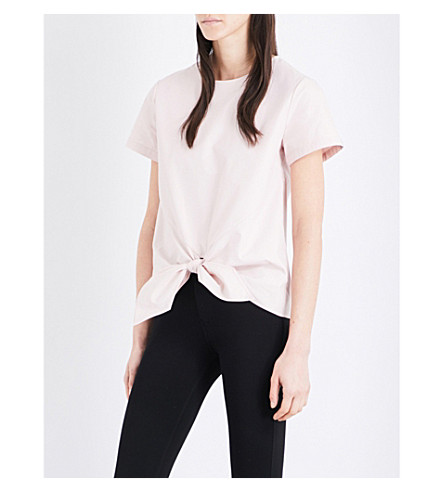TED BAKER Colour By Numbers cotton-canvas top (Nude+pink