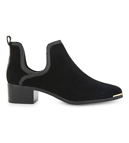 TED BAKER Twillo cutout suede ankle boots (Black