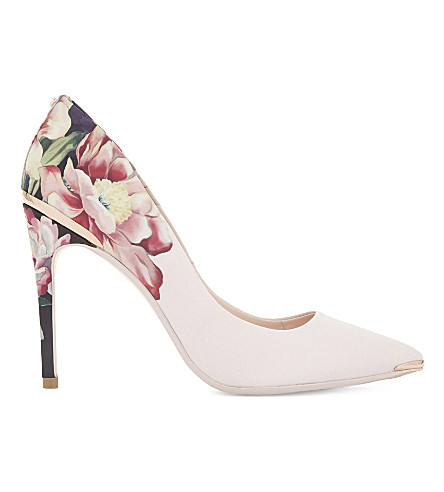 TED BAKER Kaawap floral satin courts (Baby+pink