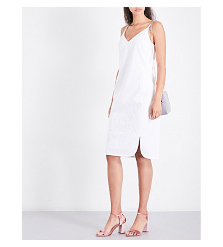 TED BAKER Hellsad embroidered cotton dress (White