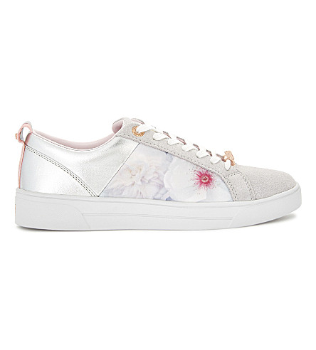 TED BAKER Fushar floral trainers (Light+grey