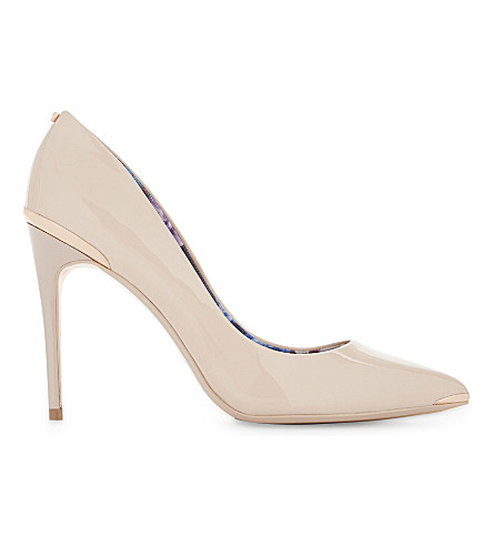 TED BAKER Kaawa patent leather courts (Nude+pink