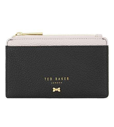 TED BAKER Alica leather card holder (Black