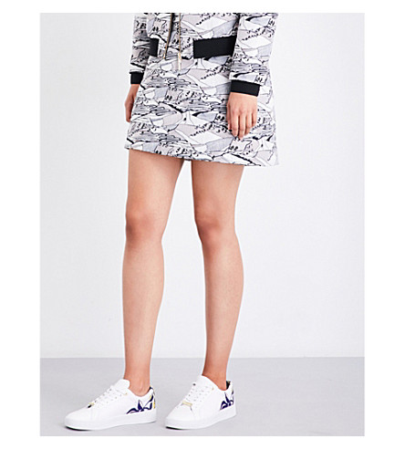 TED BAKER Landscape-jacquard mini skirt (Light+grey