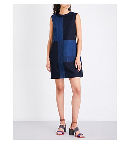 TED BAKER Patchwork denim dress (Mid+wash