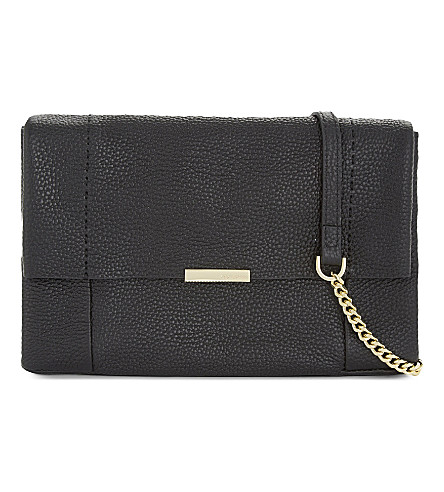 TED BAKER Parson leather cross-body bag (Black