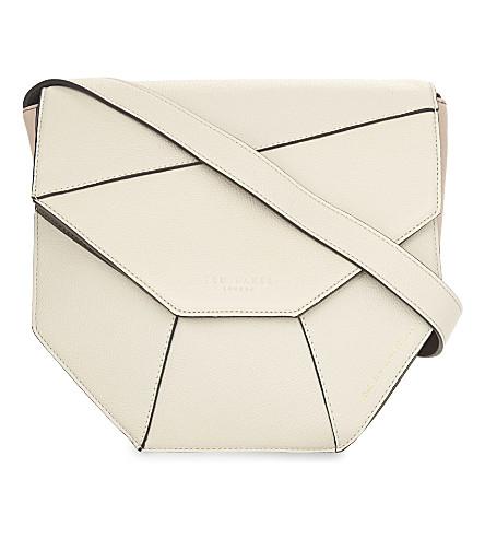 TED BAKER Limetta leather cross-body bag (Cream