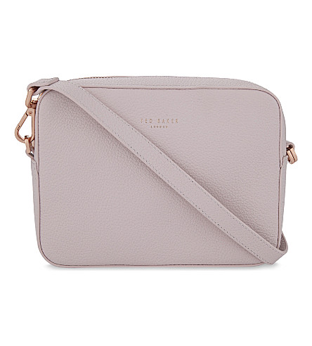 TED BAKER Camisa tasselled leather shoulder bag (Dusky+pink