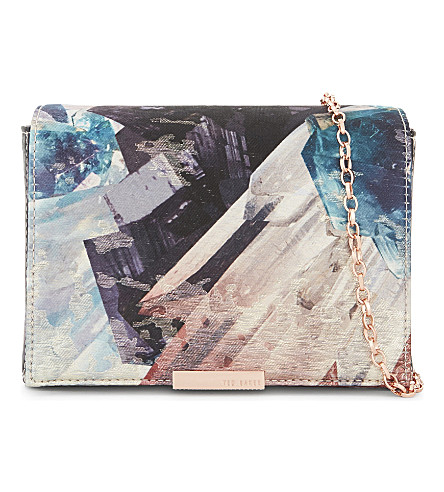 TED BAKER Candis mirrored minerals shoulder bag (Mid+grey
