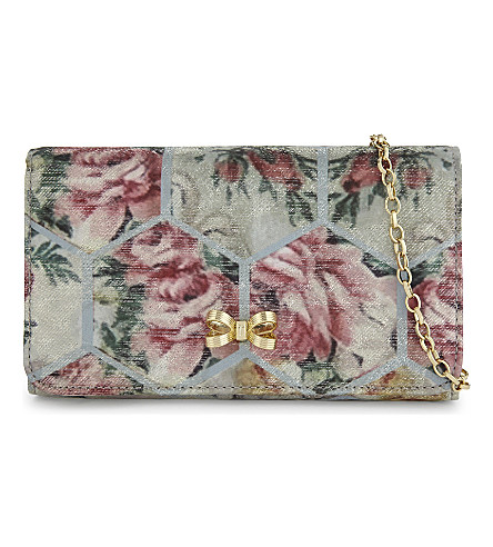 TED BAKER Almere floral cross-body bag (Pale+blue