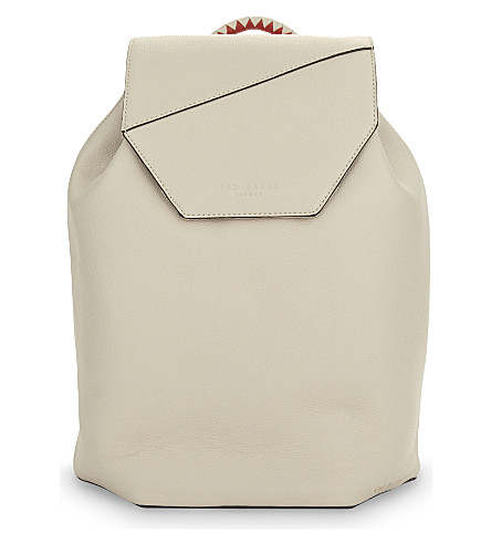 TED BAKER Cereza leather backpack (Cream