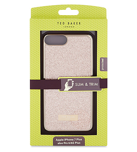 TED BAKER Rico glitter iPhone 7 case (Baby+pink