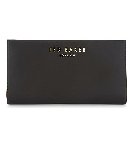 TED BAKER Leather travel wallet (Black