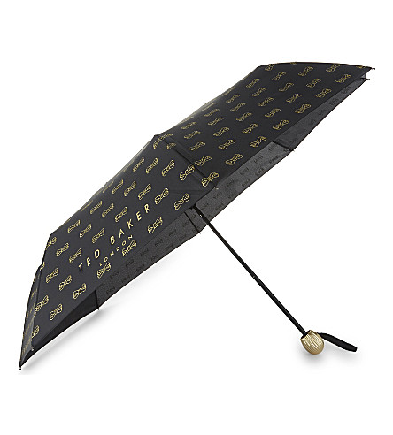 TED BAKER Bow print umbrella (Black