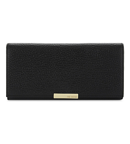TED BAKER Heathhe pebbled leather matinee purse (Black