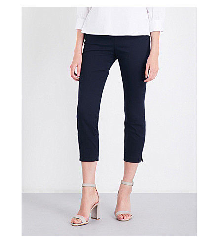 TED BAKER Baylea cropped cotton-twill trousers (Navy