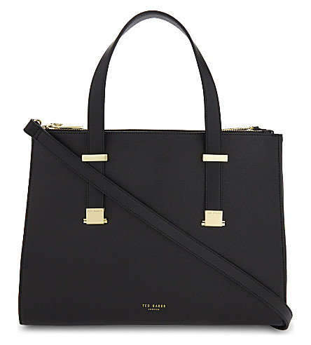 TED BAKER Alunaa leather tote bag (Black