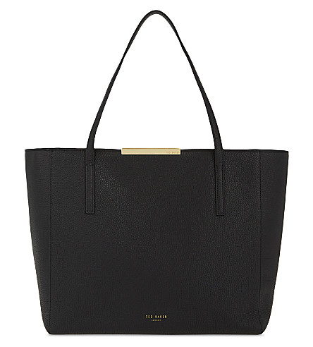 TED BAKER Rhondaa leather shopper (Black