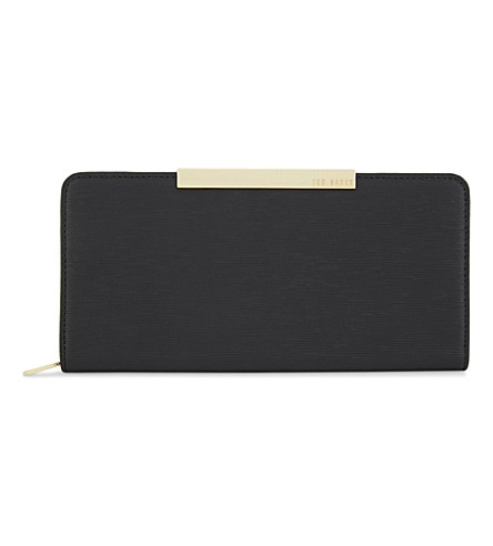 TED BAKER Marya textured leather matinee purse (Black